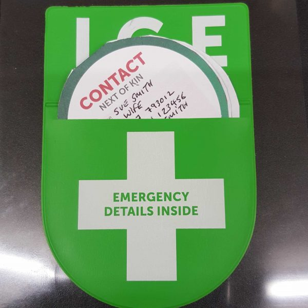 I.C.E In Case of Emergency Disc